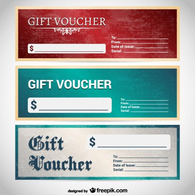 Grunge gift voucher templates Vector | Free Download