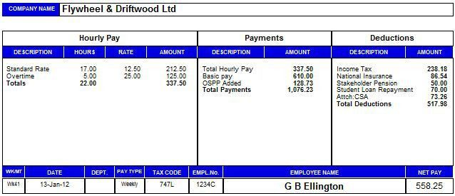 Payslip Sample Uk Payroll Manager Software Employee Payslips – Sample Payslips