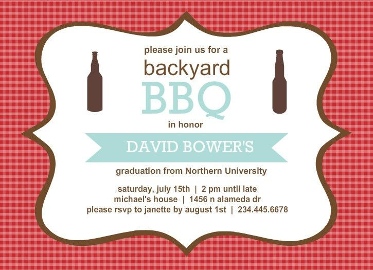 Outdoor Graduation Party Ideas: BBQ, Picnic, Luau, Invitaitons