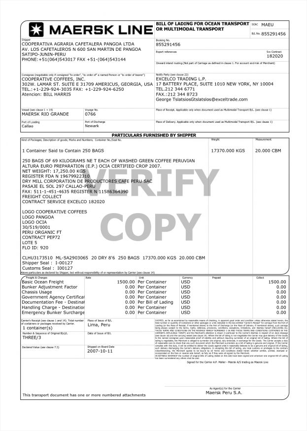 Sample Of Bill Lading Document Report Form Balance Sheet Microsoft ...