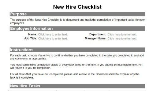 Human resource forms for the entire employee lifecycle | Download ...