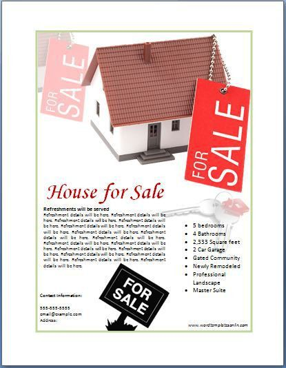 Sample Real Estate Poster Template | Formal Word Templates