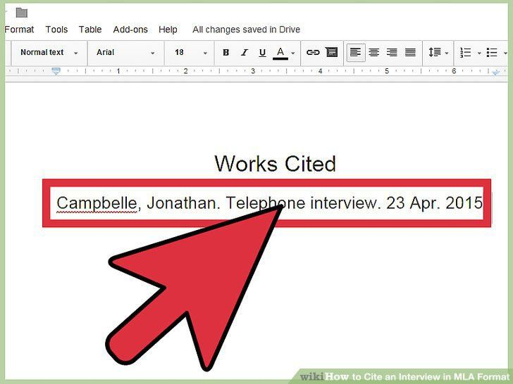 How to Cite an Interview in MLA Format (with Sample Citations)