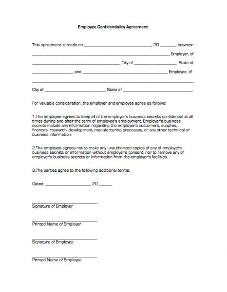 Employee Confidentiality Agreements. Employee Confidentiality ...