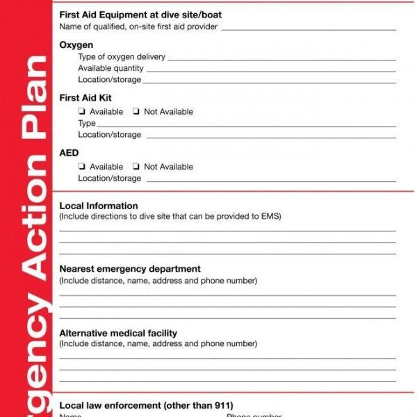 Dan Emergency Action Plan Template – Try Diving intended for ...