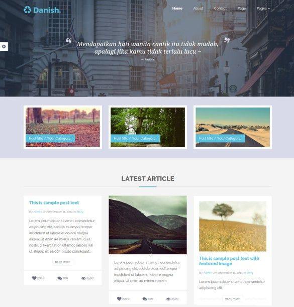 37+ Bootstrap Blog Themes & Templates | Free & Premium Templates