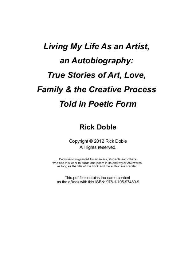 Living My Life As an Artist, an Autobiography: True Stories of Art, L…