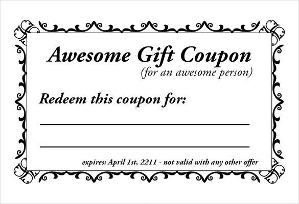 Homemade Coupon Template – 10+ Free PDF Format Download | Free ...