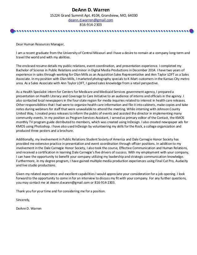 DeAnn_D_Warren-Resume-Cover Letter
