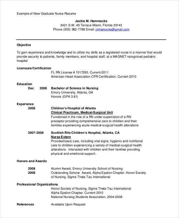 Resume Objective Statement Examples. Nursing Resume Objective 9+ ...