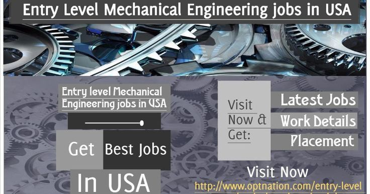 All the latest Entry level mechanical engineering jobs in USA at ...