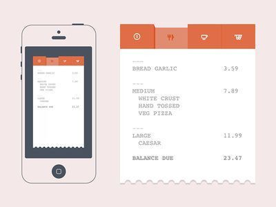 10 best receipt images on Pinterest | App design, Interface design ...