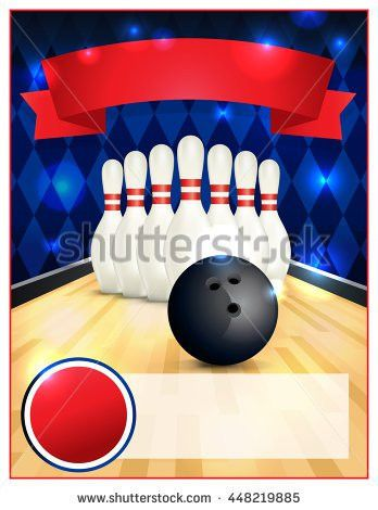 Bowling Party Flyer Template Great Birthday Stock Vector 448219288 ...
