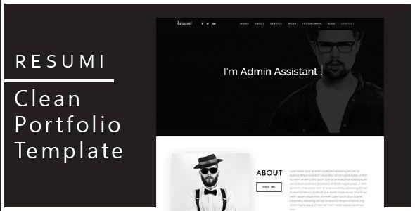 Resumi - Responsive Resume / Personal Portfolio Template by ...