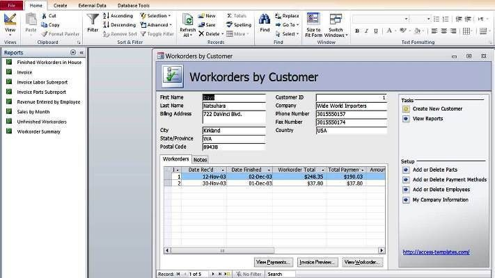 to Create Microsoft Access Templates from Ready Database Template