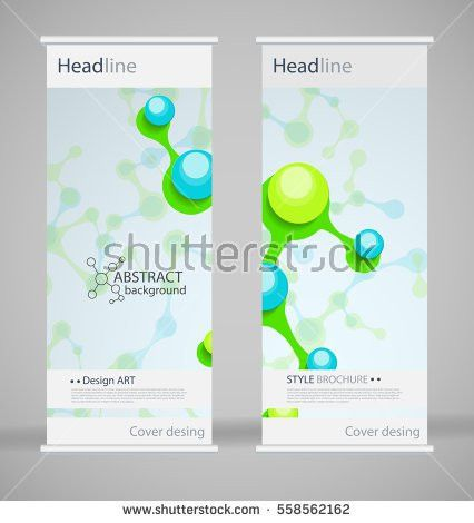 Brochure Cover Design Abstract Roll Up Stock Vector 558562162 ...