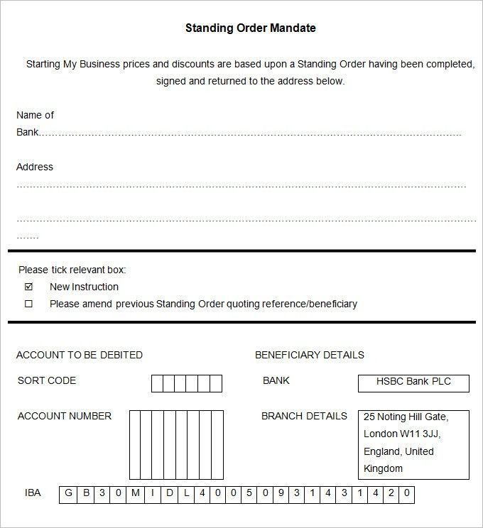 Standing Order Template - 9 Free Word, PDF Documents Download ...