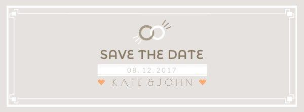 Ring Save the Date Facebook Cover Photo Template Template | FotoJet