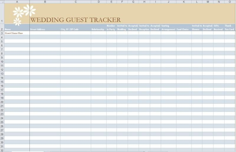 7 Free Guest List Templates - Excel PDF Formats