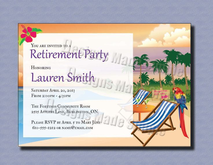 Retirement Party Invitation Template. Cute Hand Drawn Cactus ...