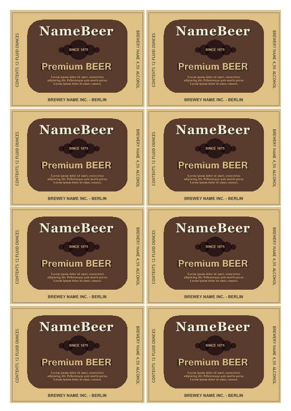 Beer Label Template | cyberuse