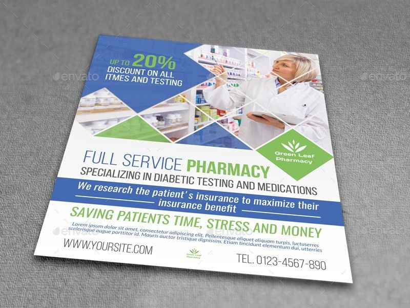 Pharmacy Flyer Template Vol.4 by OWPictures | GraphicRiver