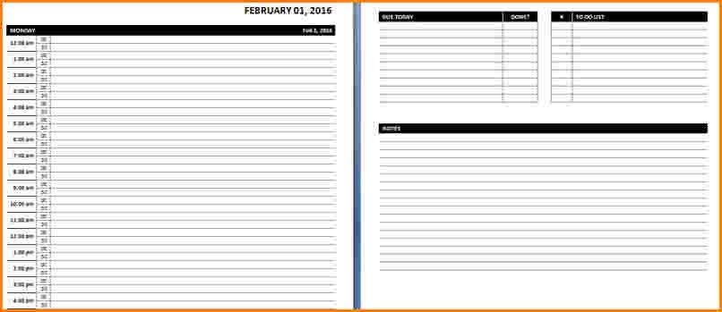 8+ daily calendar template word | worker resume