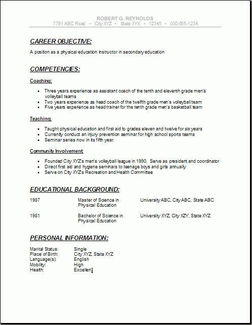 sample academic resume resume cv cover letter. combination resume ...
