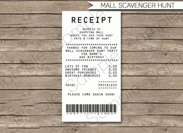Electronic Receipt Template – 8+ Free Word, Excel, PDF Format ...
