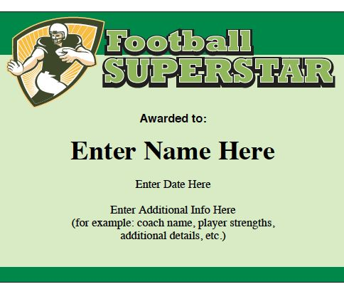 Certificate Templates for Sports and School | Award Maker