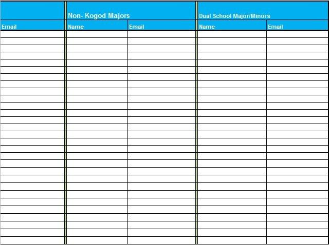 Sign in Sheet Template Excel Free - Excel Tmp