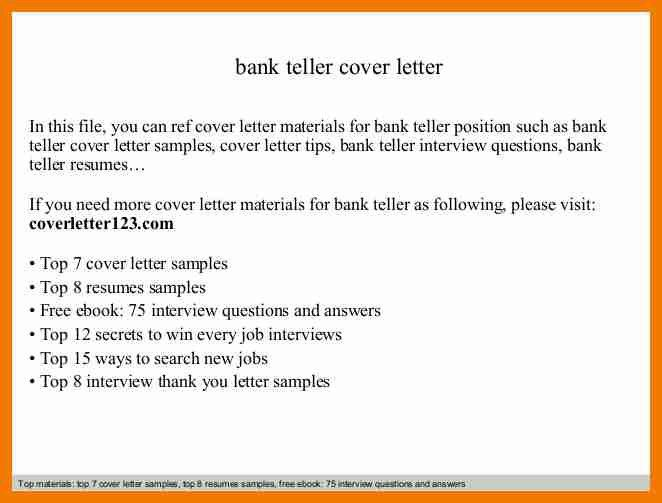 6+ bank teller cover letter | resume holder
