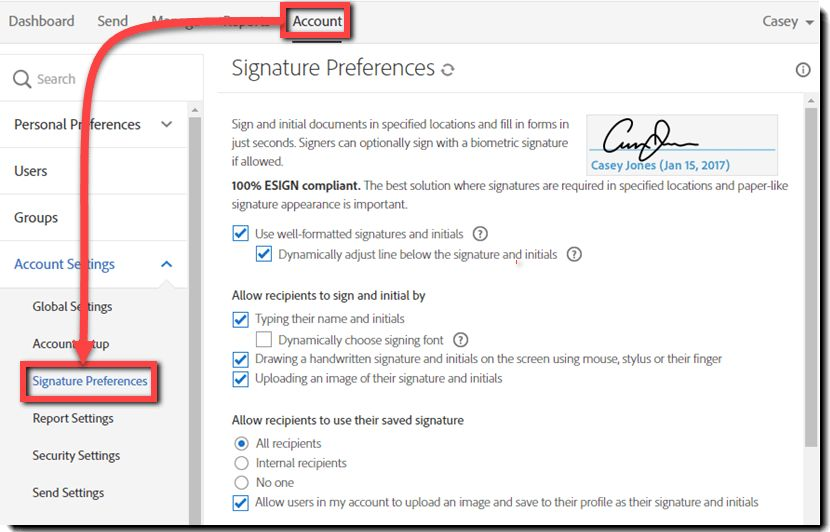 Quick setup guide | Adobe Sign