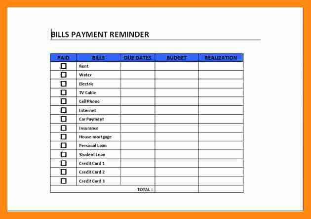6+ bill pay calendar template   graphic-resume