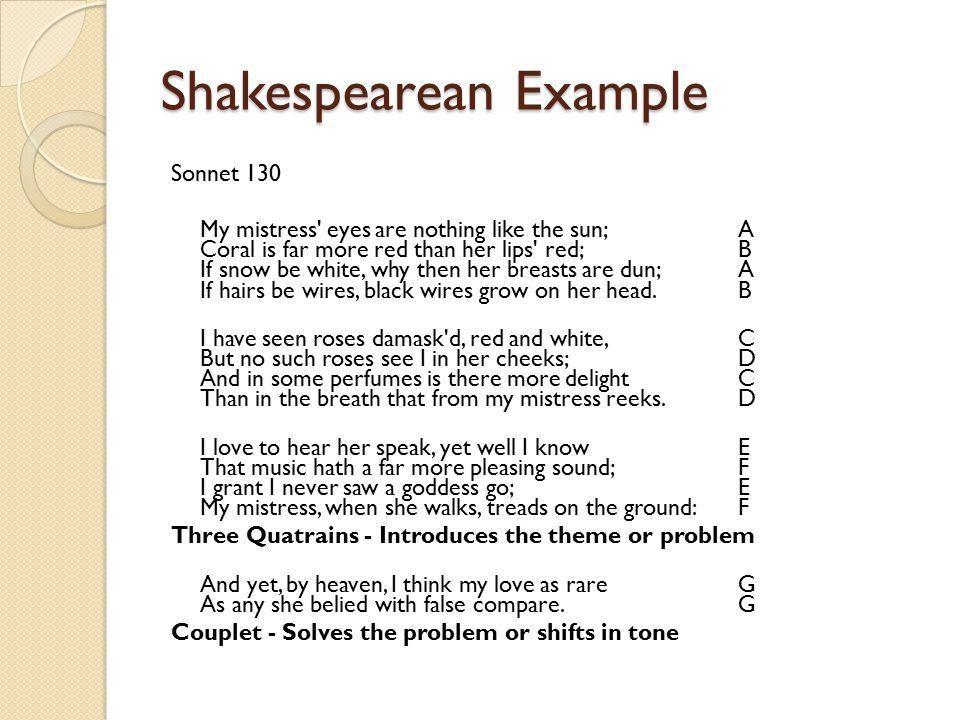 Sonnets A sonnet… ◦ has 14 lines ◦ must be written in iambic ...
