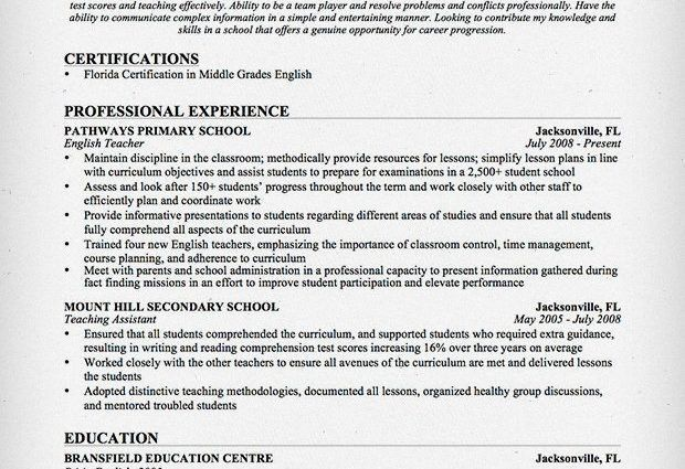 english teacher resume english teacher resume template cv