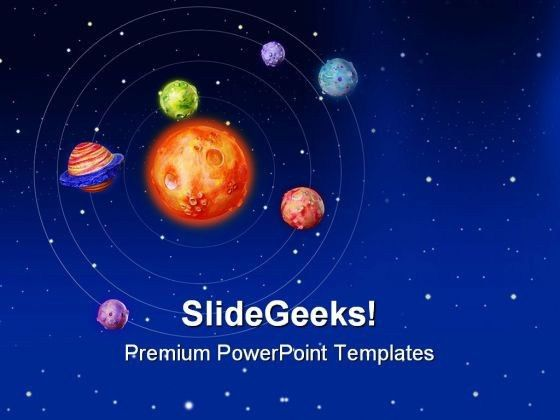 Space Earth PowerPoint Template 0610 | PowerPoint Slide Images ...
