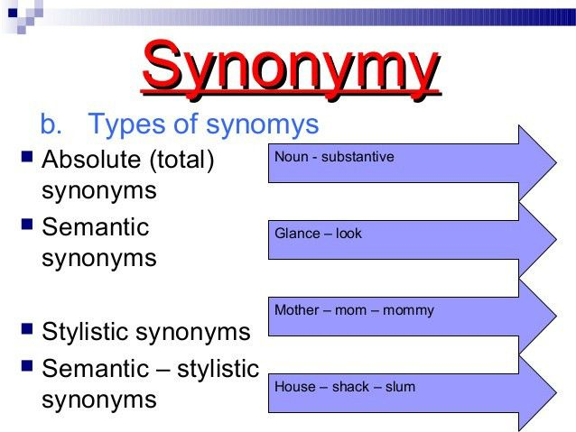 Ngữ nghĩa synonymy and lexical variants