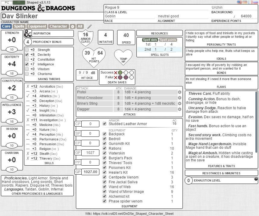 Community Forums: [5e Shaped] 3.3.0+ | Roll20: Online virtual tabletop