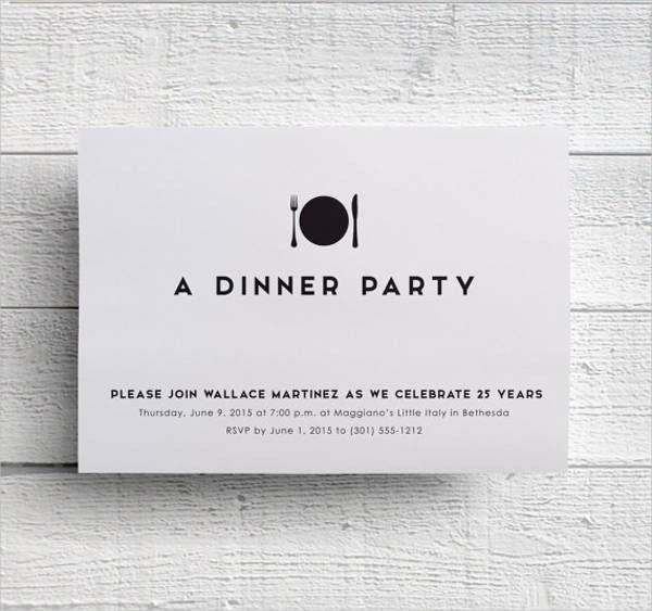 8+ Formal Dinner Invitation - Free Sample, Example, Format ...