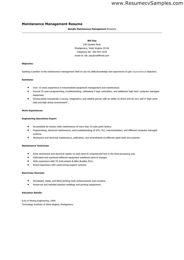 Management Skills Resume | berathen.Com