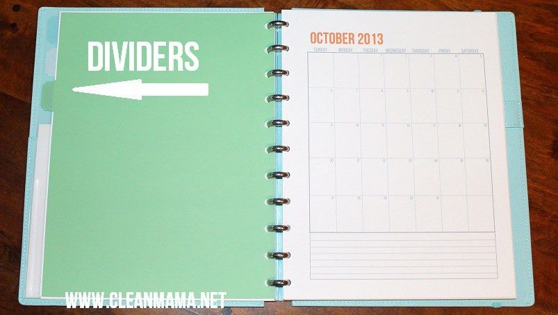How to Make a Discbound Planner - Clean Mama