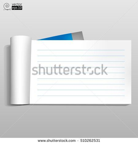 Blank Realistic Perforated Lined Sheet Portrait Stock Vector ...