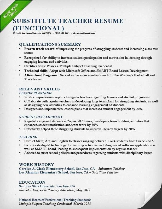 Resume Format For Teaching Profession - Best Resume Collection