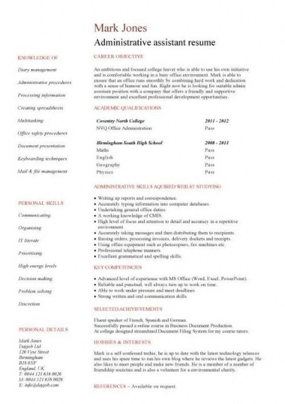 free administrative assistant resume administrative assistant
