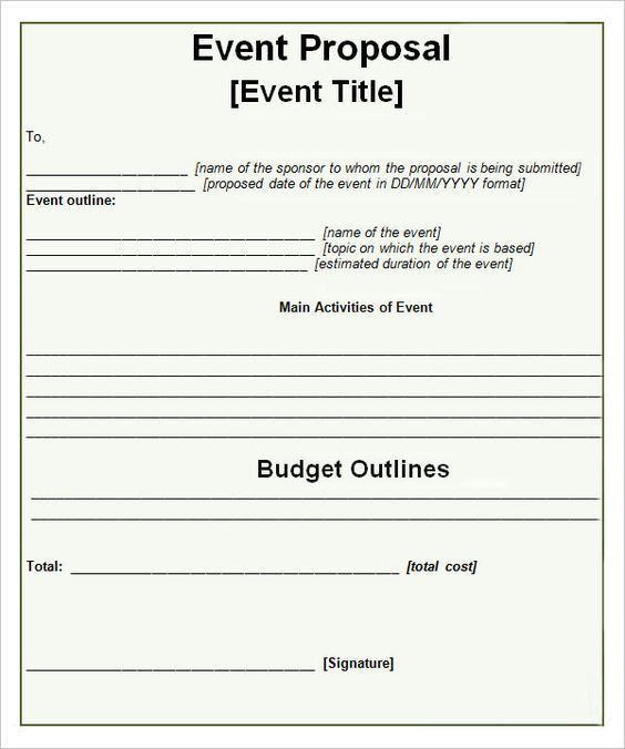 Event Proposal Template - 16+ Download Free Documents In PDF, Word ...