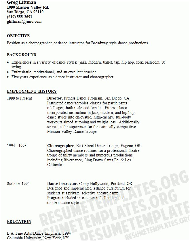 rsum wikipedia. resume example how to create a dance resume child ...