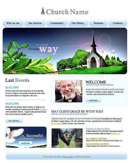 Church School Website Template #912 at Website Templates.bz