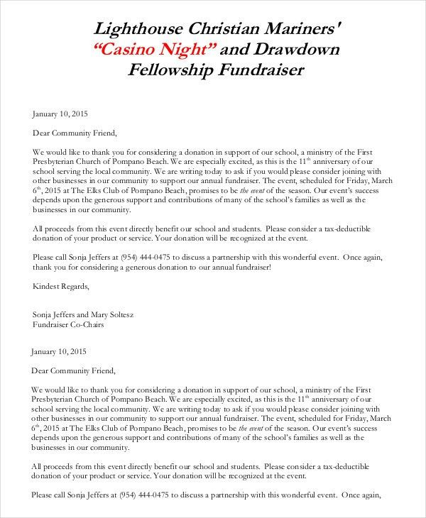Donation Letter - 9+ Free Sample, Example, Formart | Free ...