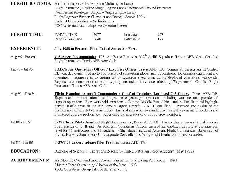 military pilot resume pilot resume download military resume